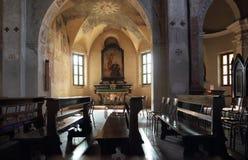Abbazia di圣Nazzaro della肋前缘 库存照片