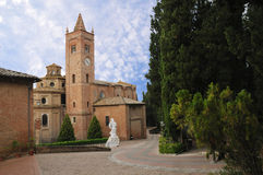 Abbazia Di (Abtei von) Monte Oliveto Maggiore Stockfoto