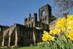 Abbazia di Kirkstall, Yorkshire del nord Fotografie Stock
