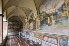 Abbazia di Monte Oliveto Maggiore, Toscana, Italia Fotografia Stock Libera da Diritti