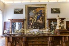 Abbazia di Monte Oliveto Maggiore, Toscana, Italia Immagine Stock Libera da Diritti