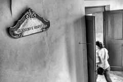 Abbazia di Monteoliveto Maggiore, Siena, Toscana, Italia Imagen de archivo libre de regalías