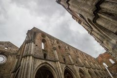 Abbazia di San Galgano in Toscana immagine stock