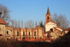 Abbazia di Sant'Albino Royaltyfri Fotografi