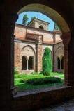 Abbazia di Vezzolano, claustro Fotos de archivo libres de regalías