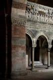 Abbazia di Vezzolano, inre Royaltyfria Bilder