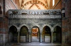 Abbazia di Vezzolano, interior stock photos