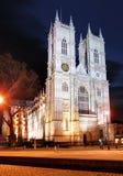 Abbazia di Westminster alla notte, Londra Fotografia Stock Libera da Diritti