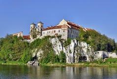 Abbazia in Tyniec, Cracovia, Polonia del benedettino Fotografie Stock Libere da Diritti