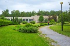 Abbellimento del giardino botanico siberiano centrale Novosibirs Immagini Stock Libere da Diritti