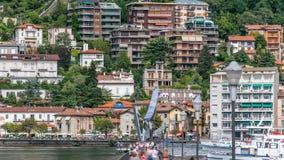 Abbellisca con il timelapse di Como del lago, Lombardia, Italia stock footage