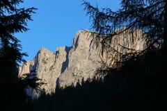 Abbellisca con la foresta, le montagne ed il cielo blu verdi Immagine Stock Libera da Diritti