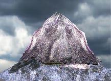 Abbellisca con la montagna ed il lago soli d'argento in Th Fotografia Stock Libera da Diritti