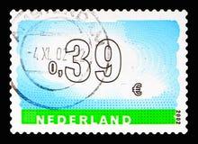 Abbellisca con le nuvole, dieci per il serie delle lettere, circa 2002 immagini stock