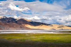 Abbellisca intorno al TSO di Kyagar vicino al TSO Moriri in Ladakh, India Fotografie Stock