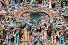 Abbellisca la foto, le nozze di Meenakshi e Shiva Fotografie Stock