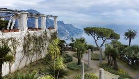 Abbellisca la villa Rufolo, Ravello, Italia del giardino Fotografie Stock Libere da Diritti