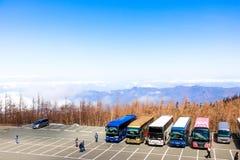 Abbellisca la vista della linea della nuvola con le alpi del Giappone sulla quinta stazione Immagine Stock Libera da Diritti