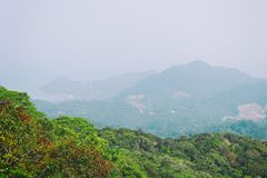 Abbellisca la vista sulla montagna del Ra di Khao - il più alta montagna sull'isola di Koh Phangan, Tailandia Immagine Stock Libera da Diritti