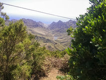 Abbellisca Tenerife, vista da Anaga al mare Immagini Stock