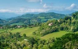 Abbellisca Urbino, la città ed il sito circondanti del patrimonio mondiale nella regione della Marche di Italia Immagine Stock