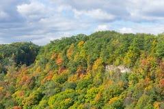 Abbellisca vicino al picco di Dundas in Hamilton Ontario all'autunno soleggiato d immagine stock