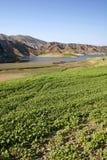 Abbellisce la vista del bacino idrico di Azat Immagine Stock