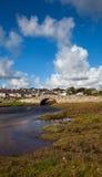 Abberfraw Dorf u. Brücke Stockfotografie