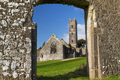 Abbey of Adare. In Ireland - gate view Royalty Free Stock Images