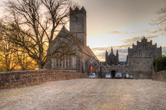 Abbey in Adare at sunset Royalty Free Stock Photo