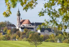Abbey Andechs in Bavaria Royalty Free Stock Images