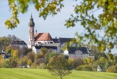 Abbey Andechs i Bayern royaltyfria bilder