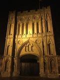 Abbey. Architecture lit up in the night Royalty Free Stock Photos
