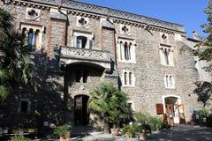 Abbey at Arles-sur-Tech. Sainte-Marie d'Arles Abbey at Arles sur Tech stock photo
