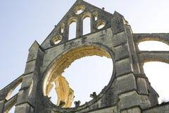 Abbey av Longpont (Picardie) Arkivbilder
