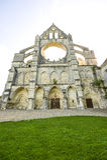 Abbey av Longpont (Picardie) Fotografering för Bildbyråer