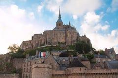 Abbey av Mont Saint-Michel Arkivbild