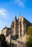 Abbey av Mont Saint-Michel, Frankrike Royaltyfria Bilder