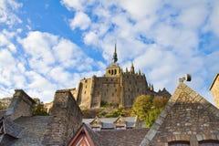 Abbey av Mont Sanktt Michel, Frankrike Royaltyfria Foton