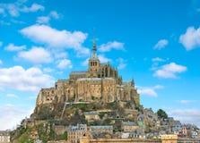 Abbey av Mont Sanktt Michel. Arkivbilder