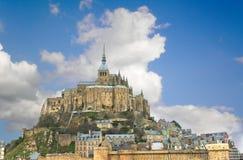 Abbey av Mont Sanktt Michel. Fotografering för Bildbyråer