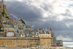 Abbey av Mont Sanktt Michel. Arkivbild