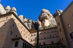 Abbey av Montserrat Royaltyfria Foton