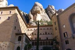 Abbey av Montserrat Royaltyfri Fotografi