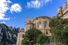 Abbey av Montserrat Arkivfoto