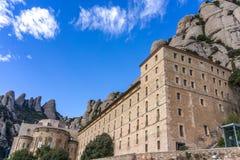 Abbey av Montserrat Royaltyfri Bild