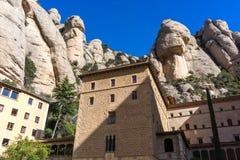 Abbey av Montserrat Arkivfoton