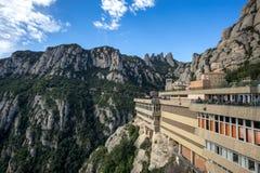 Abbey av Montserrat Arkivbilder