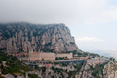 Abbey av Montserrat Arkivbild