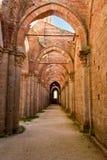 Abbey av San Galgano, Tuscany Royaltyfri Bild